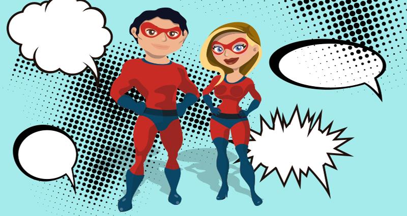 Femme et homme contre les insultes
