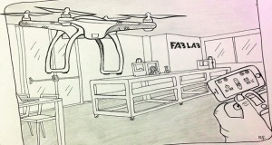 Premier dessin de la série Inktober 2017