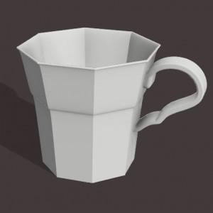 Tasse réalisée avec Fusion 360