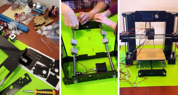 Une imprimante 3D RepRap nécessite d'être assemblée.