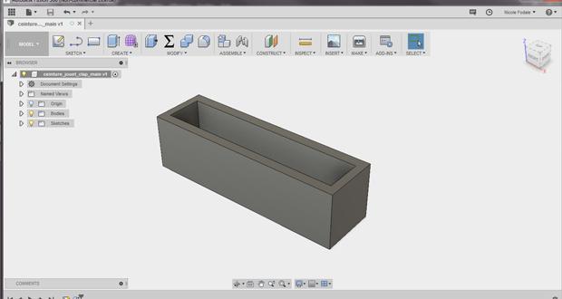 Modélisation de la pièce - rendu 3D