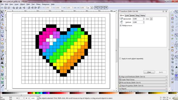 Coeur En Pixel Art Broderie Numérique Nicole Fodale