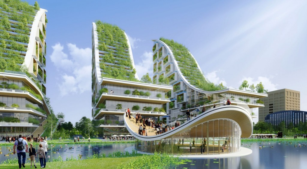 Tour Taxis Energy Plus Masterplan par Vincent Callebaut